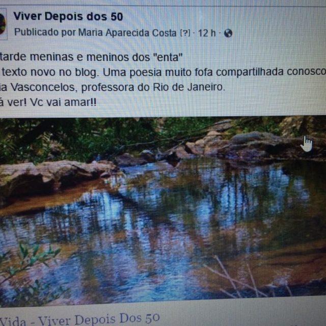 Bom dia amados! L no blog wwwviverdepoisdos50com tem um poemahellip